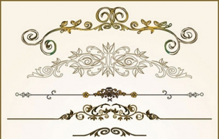 practical lace pattern vector classic