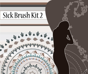 Free Illustrator Brushes - Sick Brush Kit 2