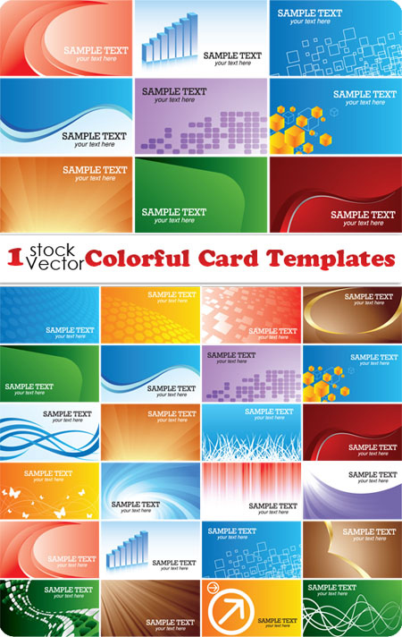 Colorful Card Templates Vector.jpg
